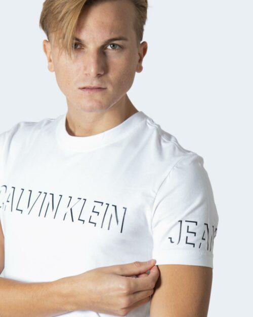 T-shirt Calvin Klein SHADOW LOGO Bianco – 71974