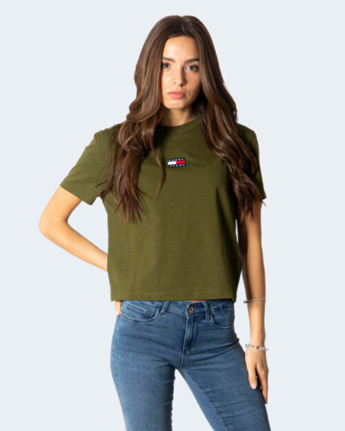 T-shirt Tommy Hilfiger CENTER BAD Verde Oliva – 72172