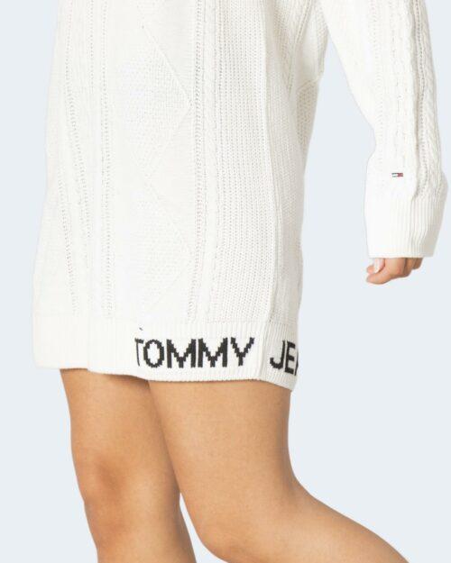 Vestito corto Tommy Hilfiger CABLE SWEATER Bianco – 72031