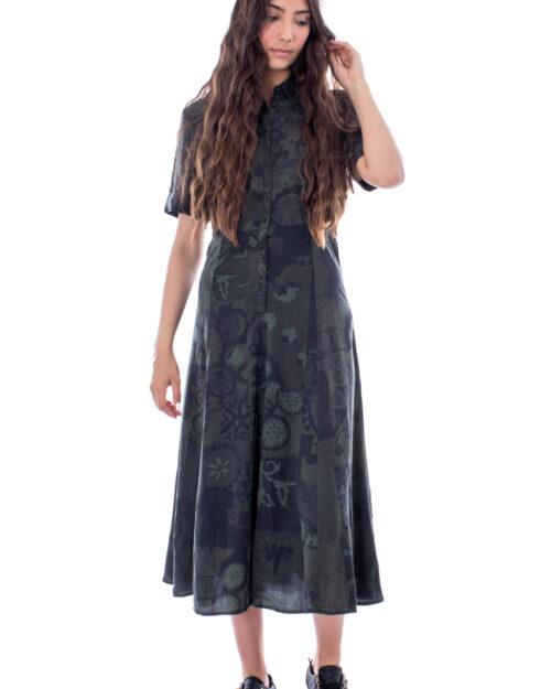 Vestito lungo Desigual VEST GINEBRA Verde Scuro – 30168