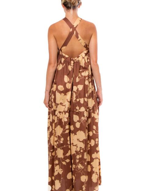 Vestito lungo Vicolo SCOLLO CANOTTA Marrone – 30916