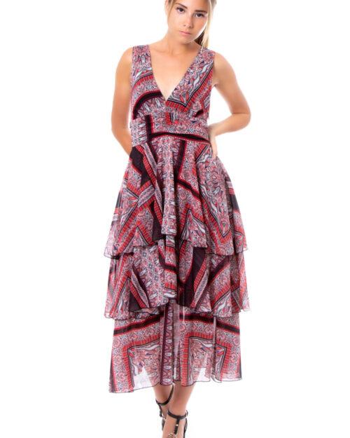 Vestito lungo Vicolo FANTASIA Rosso – 30911